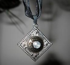 Necklace & Pendant Silver & Black Diamond Shaped #621 - $8.99