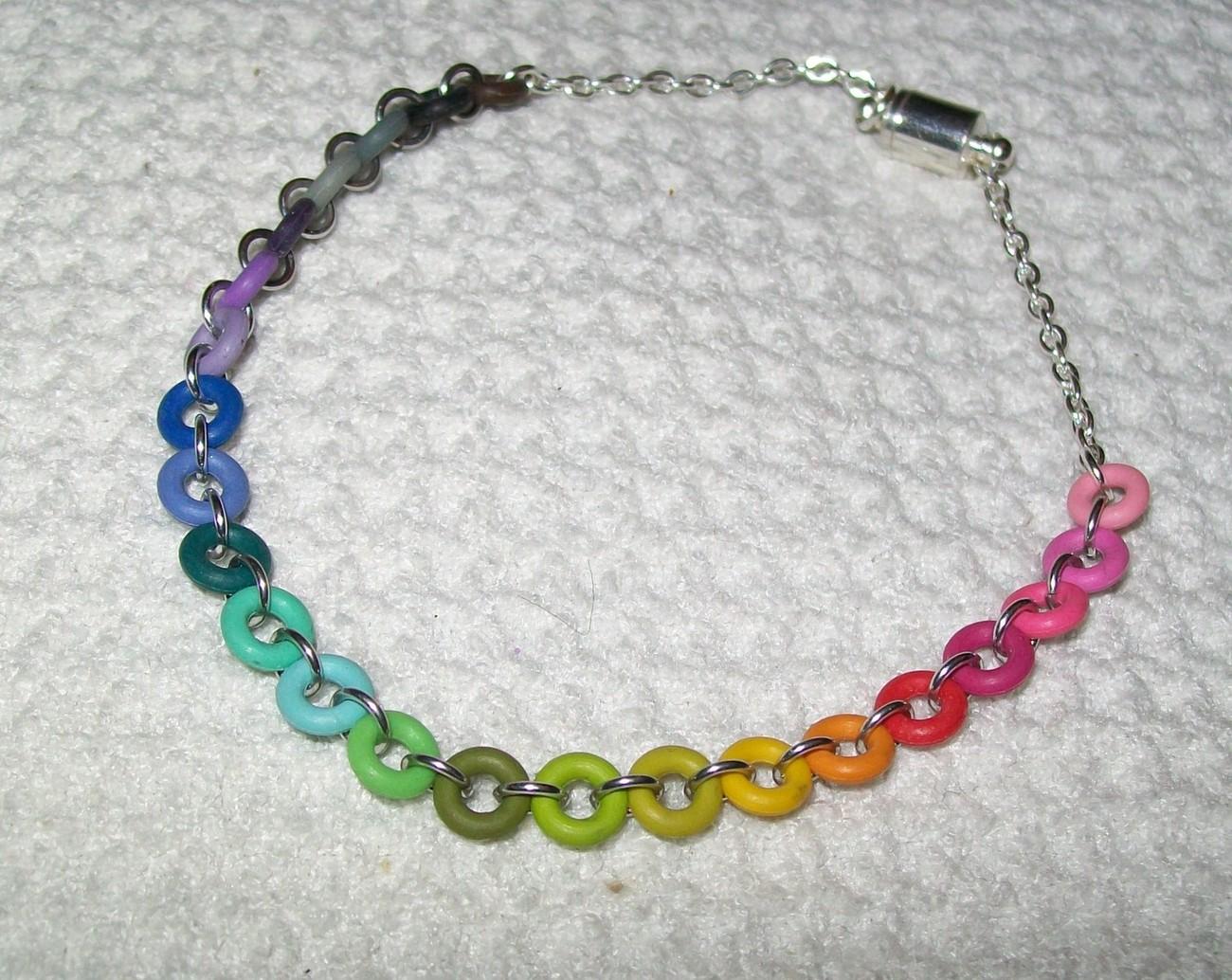 Skittles Chainmaille Bracelet