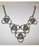 Large Triples Chainmaille Necklace - $15.00