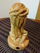 Vintage Handmade Jesus Made Of Pure Olive Wood, Hand Carved In Bethlehem Israel  image 4