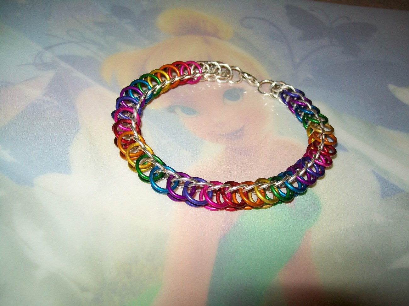 Colored or Silver Plated Half Persian Chainmaille Bracelet