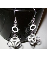 Glow in the Dark Chainmaille Earrings (White) - $12.00
