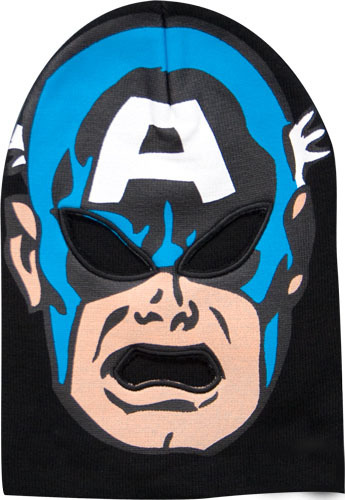 Captain American Costume Ski Mask Style Beanie *NEW*