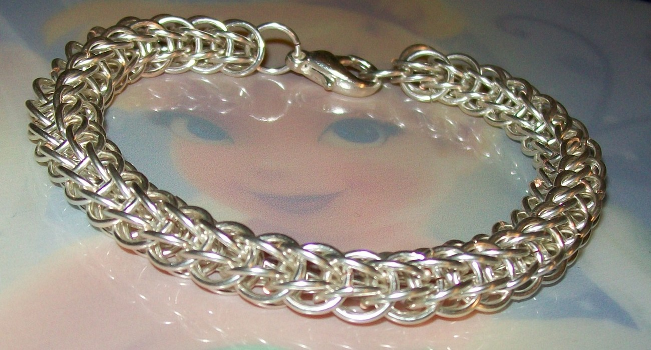 Silver Plated Full Persian Chainmaille Bracelet
