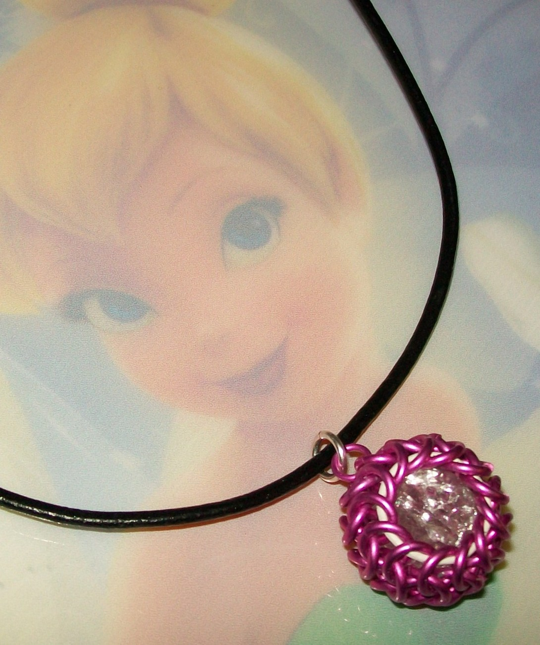 More Caged Globe Chainmaille Pendant Necklace