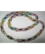 Rainbow Byzintine Necklace - $90.00