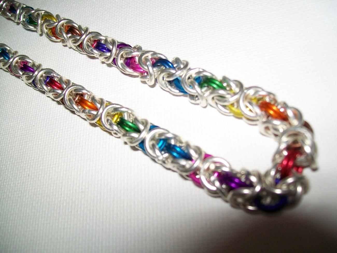 Rainbow Byzintine Necklace