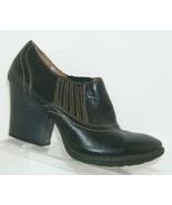 B.O.C. Born Concept black leather elastic gore slip on chunky heels 7.5 ... - $33.30