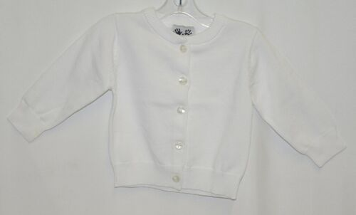 Finger Prints New York Classic White Cardigan Button Up 6 Months