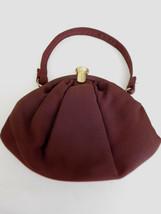 Vintage Brown Textured Evening Purse w/ Satiny Liner - $24.99