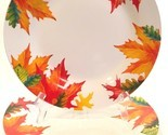 "Royal Norfolk Autumn Leaves 10-1/2"" Dinner Plates Set of 3 Thanksgiving Fall"