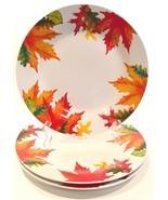 """Royal Norfolk Autumn Leaves 10-1/2"""" Dinner Plates Set of 3 Thanksgiving ... - $22.99"""