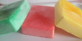 fruity goats milk soaps. set of 3 - $15.00