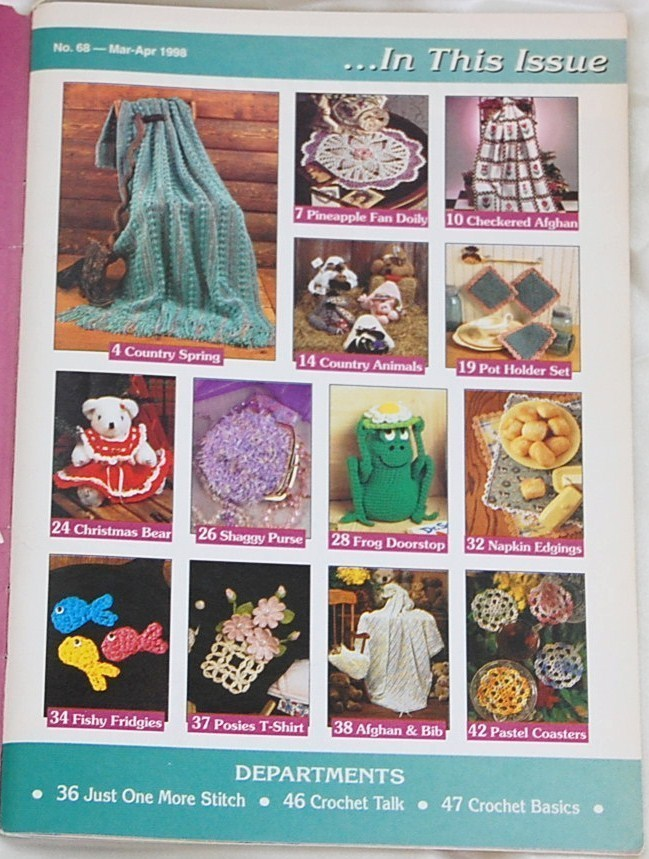 Hooked on Crochet Magazine Mar. - Apr. 1998 No. 68