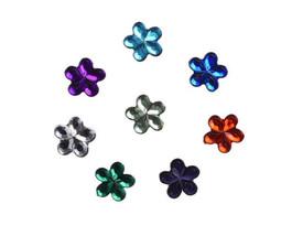 "Lot of 100 Small FLOWER-shaped 1/4"" (6mm) Flatback Craft Scrapbook Piece... - $3.95"