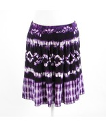 Purple ikat ETCETERA A-line skirt 8 - $39.99