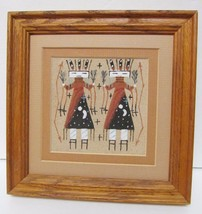 """Navajo Indian Yei Kachinas Sandpainting Dry Painting Signed John 7"""" x 7""""... - $39.95"""