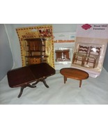5 Doll House Miniature Furniture Vtg 2 Chairs 2 Night Stands Hutch Coffe... - $16.99