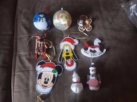 Lot of Miscellaneous Christmas Ornaments: Disney, Wood, Snowmen, Horse, ... - $5.94