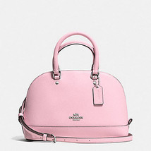 Coach Mini Sierra Leather 57555 Blush Pink Satc... - $133.65