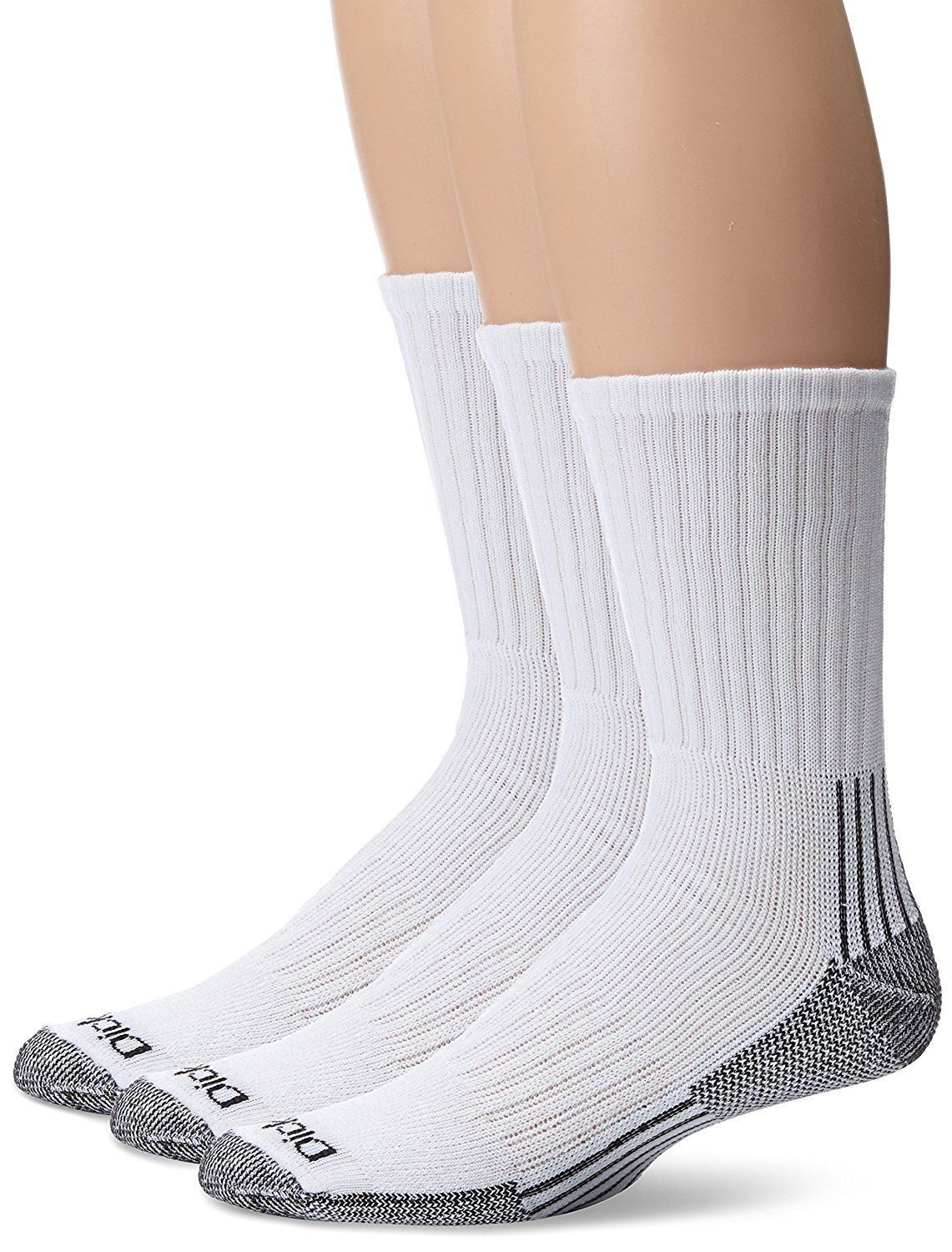 High Knee Support Socks Mens Heavyweight Cushion Compression Work Crew 3 Pairs