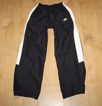 5b8c6102 Superb Black Fabric & White Strip NIKE Elastic Unisex Sport Trousers  AGE 10 / 12