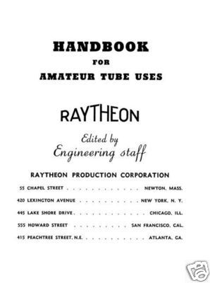 Handbook of Amateur Tube Uses  CDROM