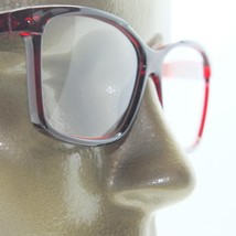 Reading Glasses Simple Large Square Frame Office Smart Burgundy Wine +1.50 Lens - $18.00