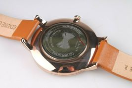Ted Baker London TE50013007 Tan Genuine Leather Band & Rose-Gold-Tone Watch NWT image 5