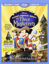 Disney's  Mickey, Donald, Goofy: The Three Musketeers [Bluray + DVD]