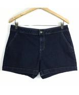 Jennifer Lopez JLO 10 Dark Wash Stretch Casual Pocket Denim Jean Shorts ... - $12.99