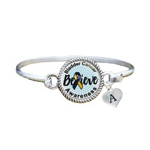 Custom Bladder Cancer Awareness Believe Silver Bracelet Jewelry Choose I... - $13.80+