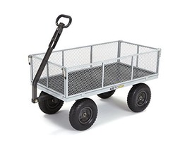 Gorilla Carts GOR1001-COM Heavy-Duty Steel Utility Cart with Removable S... - $143.41