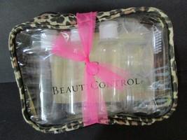Beauticontrol 5 Piece Travel Set Plastic Bottles Plus Case - $12.38