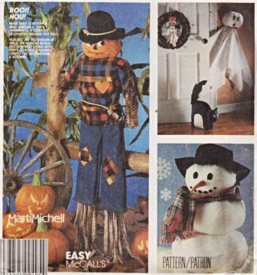 McCall's 2628 Halloween Scarecrow Ghost Door Decorations Pattern