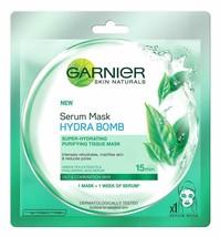 Garnier Skin Naturals,hydro bomb Green Tea Serum Mask, 32 gm original fr... - $7.97