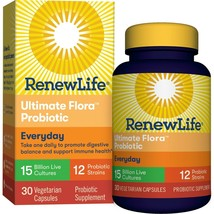 Renew Life Everyday Adult Probiotic Capsules, 15 Billion, 30 Ct.. - $33.65