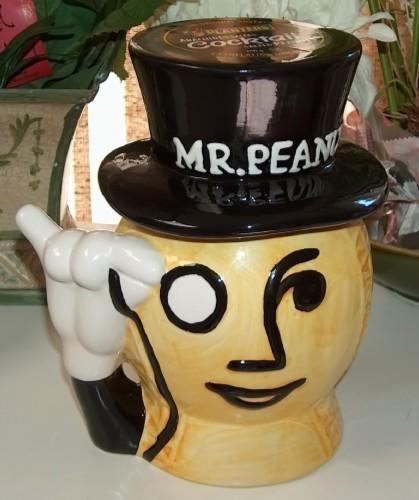 Planters Mr Peanut Head Ceramic Cookie Jar Planters Nuts
