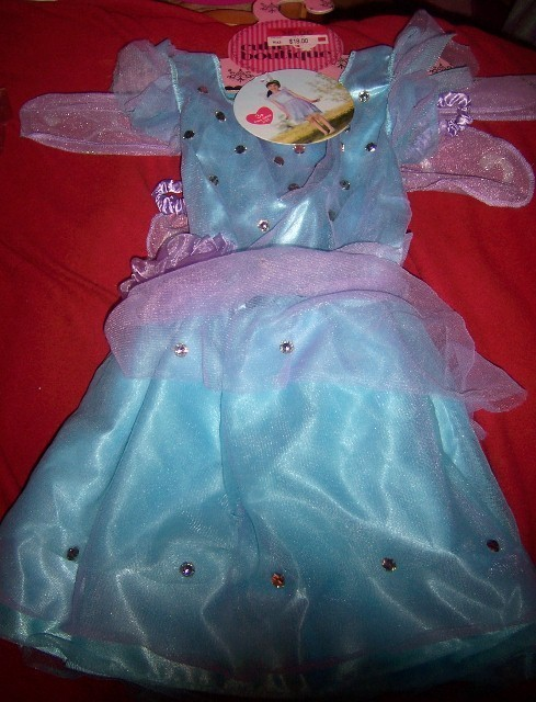 Cutie Boutique Fairy Dress Child Costume Dress Up SZ 3-5X NEW Blue Purple