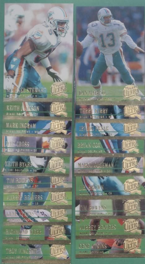 1994 Fleer Ultra Miami Dolphins Football Set