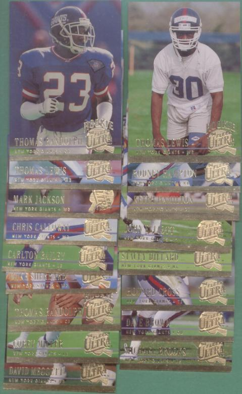 1994 Fleer Ultra New York Giants Football Team Set
