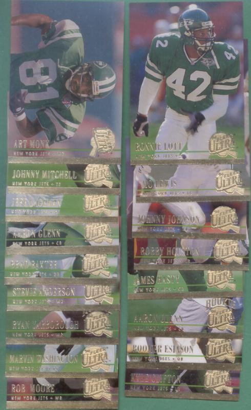 1994 Fleer Ultra New York Jets Football Team Set