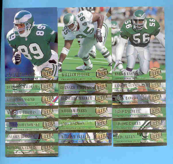 1994 Fleer Ultra Philadelphia Eagles Football Set