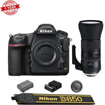 Nikon D850 DSLR Camera with Tamron SP 150-600mm f/5-6.3 Di VC USD G2 Len... - $5,295.51