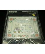 JANLYNN  COUNTED CROSS STITCH  PLAY LAND PALS BIRTH ANNOUNCEMENT KIT.  1990 - $11.99