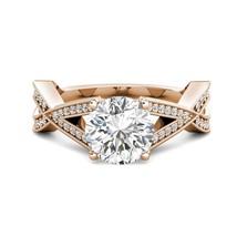 3.05 tcw Round Charles Colvard Moissanite & Diamond Engagement Ring 14k R Gold - $1,735.95