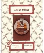 Quilted Applique Cats in Basket Pattern 1981 by Sharon Wright Honey Bee ... - $6.99