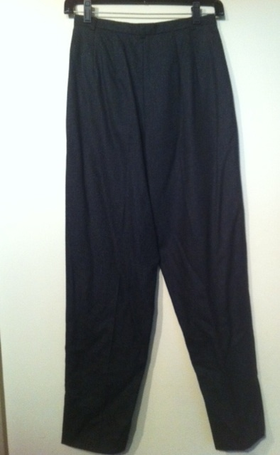 J. CREW wool Made in USA charcoal grey PANTS fully lined 2P vintage style NEW!