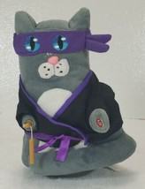 Gemmy Ninja Cat Animated Plush The Final Countdown Spinning Nunchuck - $29.99