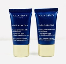 CLARINS Multi-Active Nuit Targets Fine Lines All Skin 1 oz (2x0.5) Unboxed - $11.87